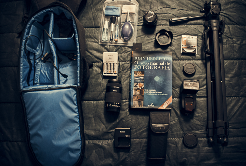 Photography Equipment Spread Out